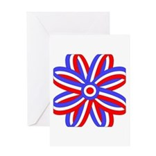 RED, WHITE & BLUE BOW Greeting Card
