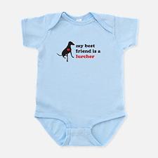 My best friend is a lurcher - Infant Bodysuit