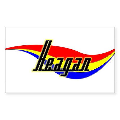 Keagan's Power Swirl Name Rectangle Sticker