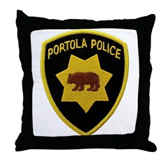 Portola Police Throw Pillow