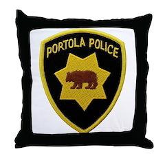 Portola Police Throw Pillow