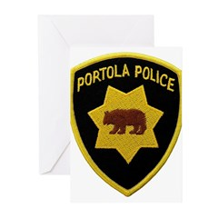 Portola Police Greeting Cards (Pk of 10)