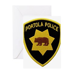 Portola Police Greeting Card