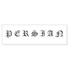 Persian (Old English) Bumper Bumper Sticker
