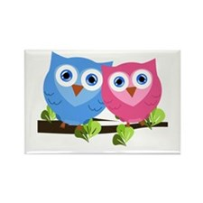 Owl Love Rectangle Magnet