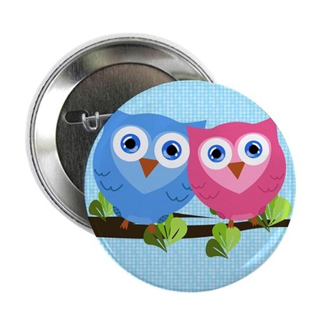 "Owl Love 2.25"" Button (10 pack)"