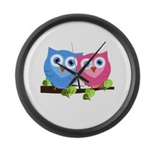 Owl Love Large Wall Clock