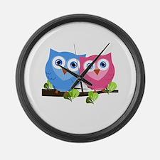 Owl Love Large Wall Clock