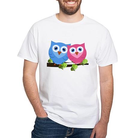 Owl Love White T-Shirt