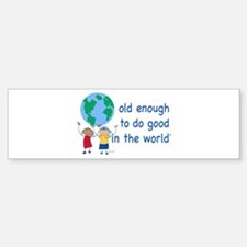 Funny Do gooder Sticker (Bumper)