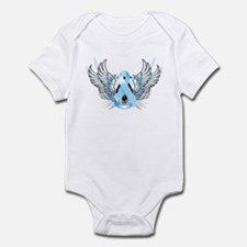 Awareness Tribal Light Blue Infant Bodysuit