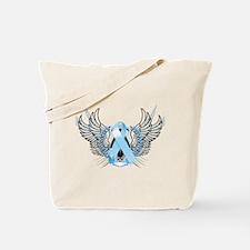 Awareness Tribal Light Blue Tote Bag