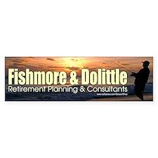 Fishmore & Dolittle Bumper Car Sticker