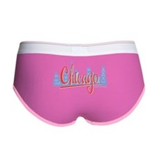 Chicago Red Script in Skyline Women's Boy Brief