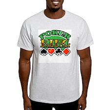 Poker King Vintage Ash Grey T-Shirt