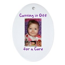 Cutting it Off for a Cure Ornament (Oval)