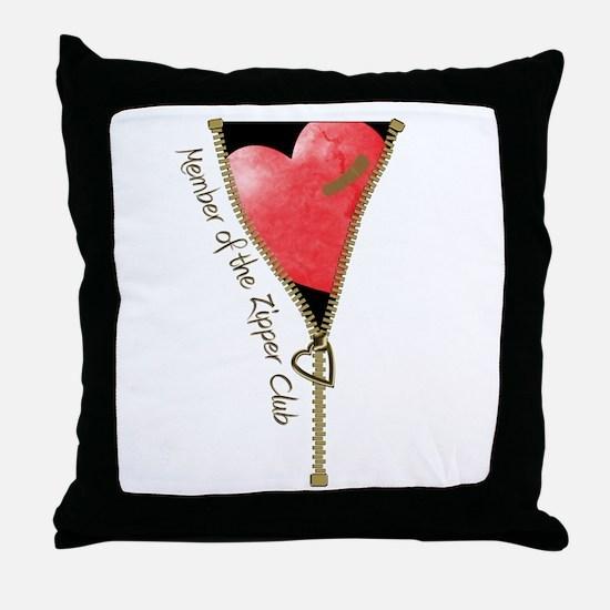 Zipper Design 2 Throw Pillow