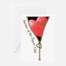 Zipper Design 2 Greeting Card