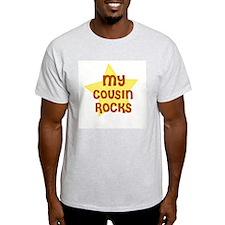 MY COUSIN ROCKS Ash Grey T-Shirt