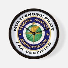 FAA Certified Multi-Engine Pilot Wall Clock