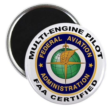 """FAA Certified Multi-Engine Pilot 2.25"""" Magnet (10"""