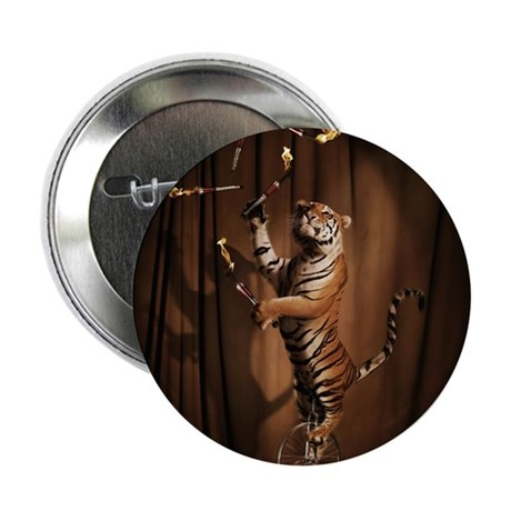 """Juggling Tiger 2.25"""" Button (10 pack)"""