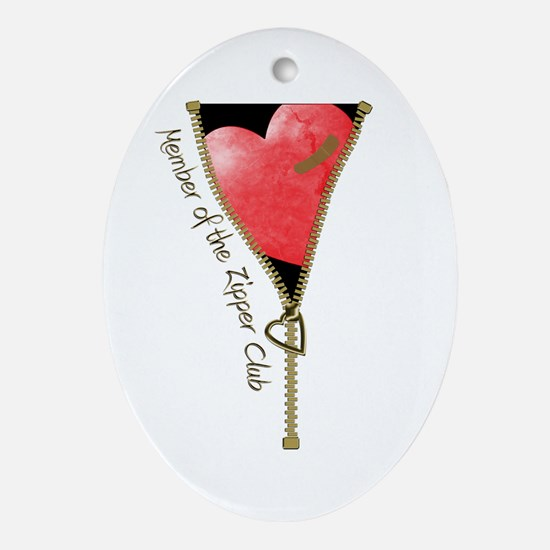 Zipper Design 2 Ornament (Oval)