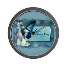 Blue Wings Chinese Crested Wall Clock