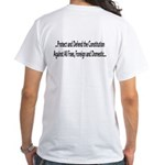 White Protect (back) T-Shirt