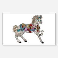 Carousel Horse Rectangle Decal
