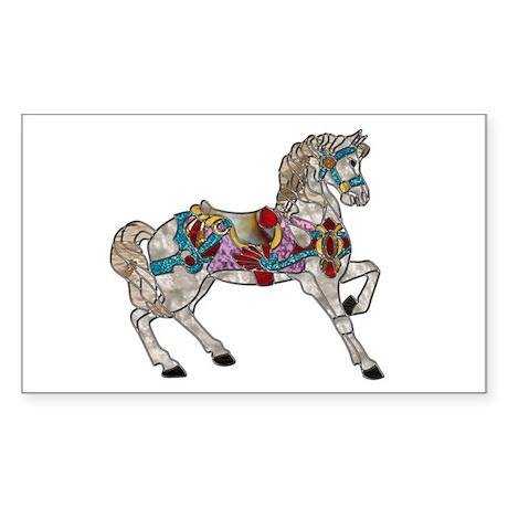 Carousel Horse Rectangle Sticker