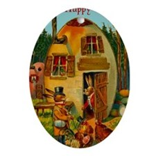 Easter Bunny's Egg House Ornament (Oval)