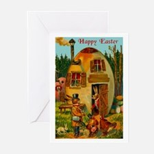 Easter Bunny's Egg House Greeting Cards (Pk of 10)