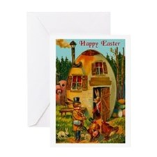 Easter Bunny's Egg House Greeting Card