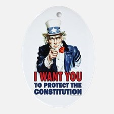 to Protect the Constitution Ornament (Oval)