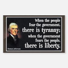 Jefferson: Liberty vs. Tyranny Decal