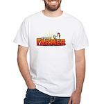 Online Farmer White T-Shirt