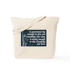 Jefferson: government big enough to... Tote Bag