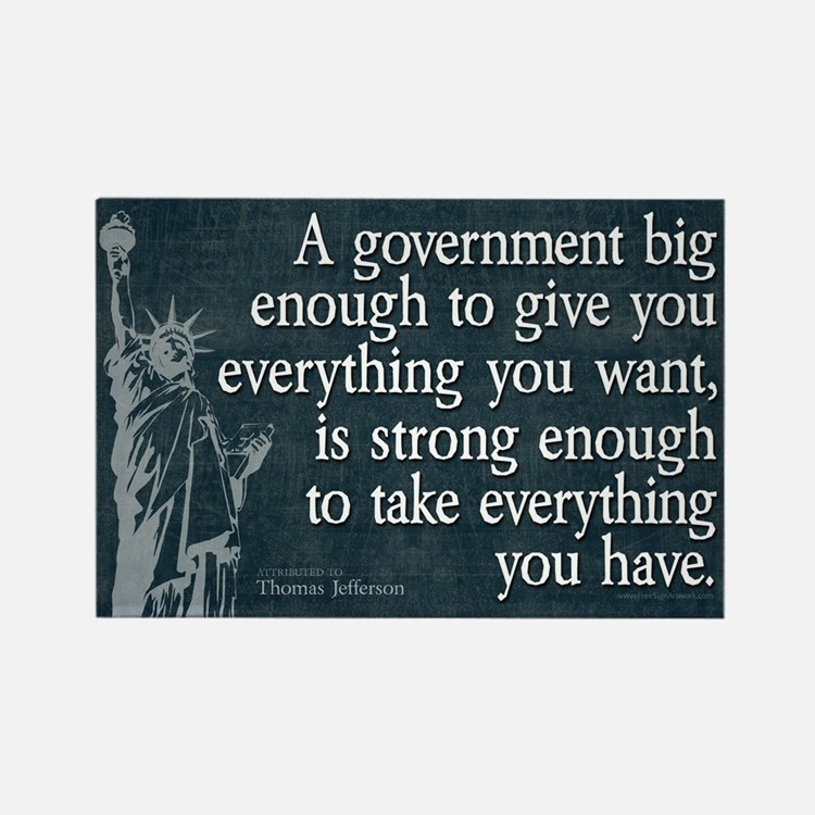 Jefferson: government big enough to... Rectangle M