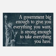 Jefferson: government big enough to... Postcards (