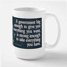 Jefferson: government big enough to... Large Mug