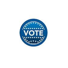 Vote Blue Mini Button
