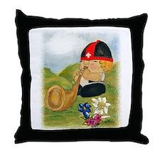 Alphorn Sepp Throw Pillow