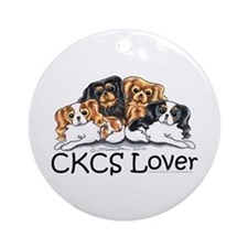 CKCS Lover Ornament (Round)