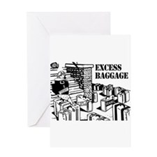 Excess Baggage Greeting Card