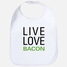 Live Love Bacon Bib