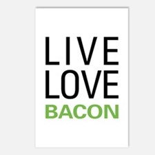 Live Love Bacon Postcards (Package of 8)