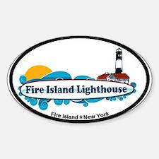 Fire Island Lighthouse Sticker (Oval)
