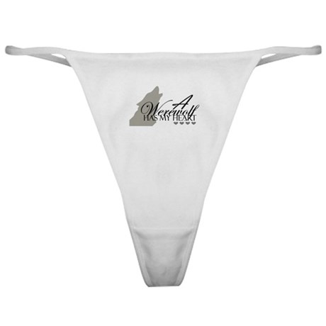 wolf/hearts Classic Thong