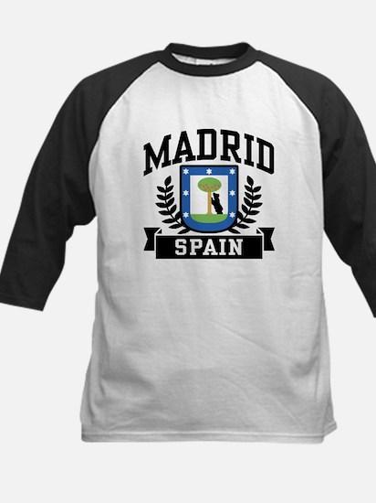Madrid Spain Kids Baseball Jersey